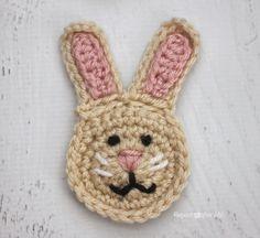 R is for Rabbit: Crochet Rabbit Applique