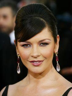 Hair and makeup: Catherine Zeta-Jones