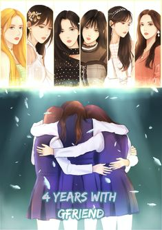 Gfriend 4 Aniversario Fanart Image K-pop Sowon Yerin Eunha SinB Yuju Umji Sunrise Gfriend And Bts, Gfriend Yuju, Kpop Girl Groups, Korean Girl Groups, Kpop Girls, Kpop Fanart, K Pop, Family Holiday Destinations, Kpop Drawings