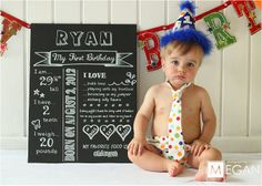 1st birthday information....oh my gosh SO cute. So doing this.