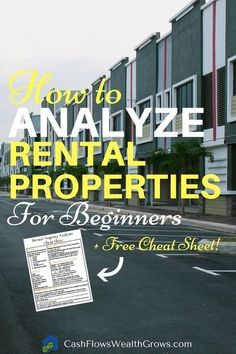 Beginner's Guide to Real Estate Investing Terms and Formulas (Free Cheat Sheet!) | Rental Property Analysis | Passive Income | Buy And Hold #realestatecourses #realtorlicense
