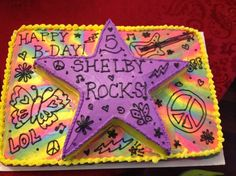 Rock Star Cakes For Girls | rock star tye dyed birthday cake repinned from cake ideas by tandy ...
