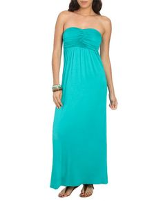 Ruched Bust Tube Maxi Dress from WetSeal.com  #WetSealSummer and #Contest