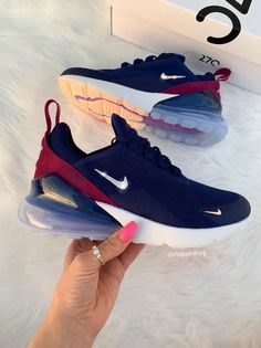 Swarovski Nike Air Max 270 Shoes Blinged Out With Swarovski .- Swarovski Nike Air Max 270 Shoes Blinged Out With Swarovski Crystals Bling Nike Shoes Denim - Nike Air Max For Women, Nike Women, Cute Sneakers, Sneakers Nike, Airmax Thea, Bling Nike Shoes, Sneaker Store, Shoes 2018, Baskets Nike
