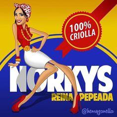 """@henryzanella: """"Una nueva creación esta vez haciéndole honor a el pan por excelencia de todos los venezolanos y no se me ocurrió ilustrar a otra persona que no fuera la #reinapepeada @norkys_batista con mucho cariño y respeto ;) #hechoenvenezuela #caricatura #caricature #inspiracion #inspiration #norkysbatista #venezuela #arepa"""""""