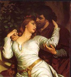 Tristan et Isolde Romance Art, Romance And Love, Romantic Paintings, Beautiful Paintings, Tristan Isolde, John Everett Millais, Pre Raphaelite, Classical Art, Love Art