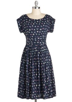 Origami and bird print, two of my biggest weaknesses | Origami and You Dress, #ModCloth