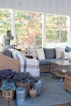 I love the couches and pillows. It looks so inviting.