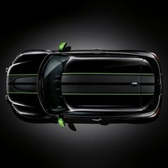 Mini Cooper Countryman Black Alien Green Ray Sport Side Stripes New Mini Cooper Stripes, Black Mini Cooper, Mini Countryman, Mini Clubman, Pink Mini Coopers, Mini Coper, Mini Cooper Accessories, Racing Stripes, Mini Stuff