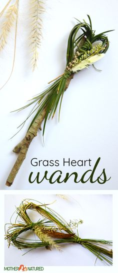 Grass Heart Nature Craft  #naturecraft #valentinesday