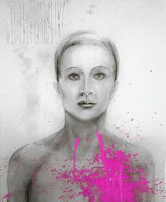 "Saatchi Art Artist Lee Marten; Printmaking, ""Think Pink"" #art"