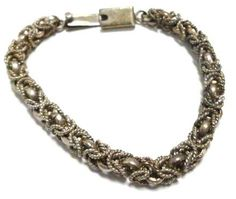 shopgoodwill.com: 34.2 Grams! 925 Sterling Silver Artistic Bracelet