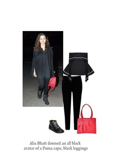 'Alia Bhatt' by me on Limeroad featuring Mid Rise Black Jeans, Black Tops with Lace Up Black Boots