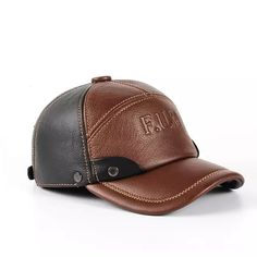 PopNobility 2018 new Winter spring Warm Men Hat Genuine Leather Cowhide Caps 3 Sizes with cotton Earmuffs outdoor genuine leather baseball - Brand Name: HARPPIHOP Mens Leather Hats, Leather Cap, Fashion Shoes, Fashion Accessories, Mens Fashion, Moda Casual, Earmuffs, Cool Hats, Mens Caps
