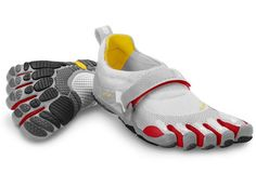 Bikila Grey / Red - Mens  Barefoot running shoes are changing the way we look at footwear. Each model is designed for the activity in mind, creating a perfect fit and feel. Whether it's for running, cross fit, gym training, hiking and/or yoga Vibram Five Fingers has a shoe for you.