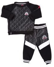 Infant & Newborn - QUILTED FAUX LEATHER JOGGER SET (INFANT)