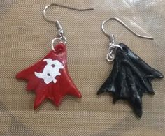 How to Train your Dragon Toothless Tail Fin Clay Earring Fan Art