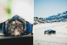 Watchmaker Roger Dubuis Brings Its Brand to Life Through Once-In-A-Lifetime Experiences: Driving Lamborghinis on an ice track, dinner on top of Aspen Mountain and more winter adventures. Iman Shumpert, Talib Kweli, Aspen Mountain, Driving Instructor, Backdrops, Bring It On, Adventure, Hypebeast, Collaboration