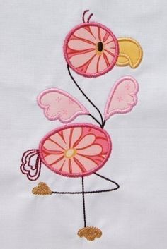 Flamingo Applique designs 4x4 hoop and 5x7 by DBembroideryDesigns, $3.99
