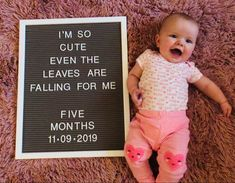 birthday month meme Milestone baby letter board- five months Cute Baby Pictures, Newborn Pictures, Monthly Baby Photos, Monthly Pictures, Milestone Pictures, Baby Letters, Baby Quotes, Newborn Baby Photography, Baby Milestones