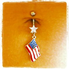 Flag belly button ring