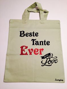 Shopper Tasche Bag  Beste Tante EVER Luxurypimp