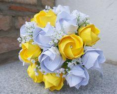 Brautstrauss Rosen Rosenstrauss Hochzeit von Papier Träume auf DaWanda.com