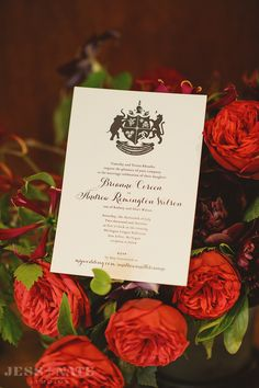 Personalized coat of arms wedding invitations, available at: http://alisabobzien.com/coat-of-arms-wedding-invitation/