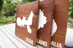 Hol dir deine Urlaubserinnerungen nach Hause. Jetzt auf www.palettenbrett.de deine individuelle Palettentafel bestellen!