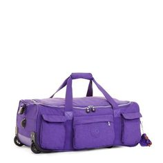 2185dc6a91 Kipling Discover Small Wheeled Luggage Duffle. Precisely Purple