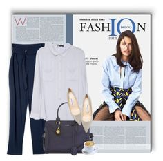 """""""WorkWear"""" by acommonspace ❤ liked on Polyvore featuring Alexander McQueen, Jimmy Choo, WorkWear, Blue and gray"""