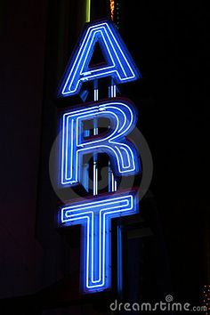 'ART' NEON SIGN  ๑෴MustBaSign෴๑