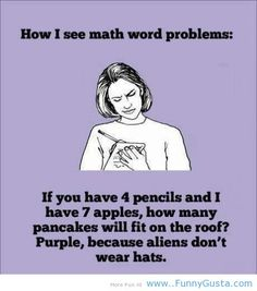"I'm good at math but I literally just Laughed Out Loud!  ""Math Problems"""
