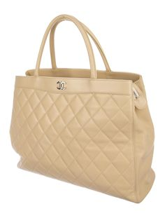 3cb029dfd94 Chanel Quilted CC Tote - Handbags - CHA296209   The RealReal Chanel Handbags,  Tote Handbags
