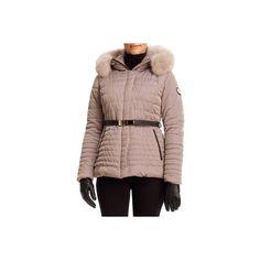 Gorski Apres-Ski Leopard-Jacquard Fur-Trim Jacket ($995) ❤ liked on Polyvore featuring outerwear, jackets, grey, stand collar jacket, leather belt, grey quilted jacket, hooded jacket and fur trim hooded jacket