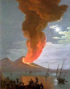 Saverio Della Gatta - L'eruzione del Vesuvio del 1794 - Roma, collezione privata