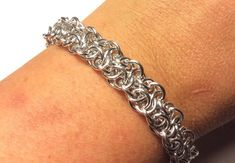 Vipera Berus Chainmaille Bracelet by LolaJ Chainmaille Bracelet, Weaving, Jewelry Making, Jewels, Bracelets, Rings, Silver, Gold, Ideas