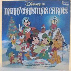 Disney's Merry Christmas Carols 33RPM LP Disneyland Records 2514 Mickey & Others #CHILDRENSFOLKChristmas