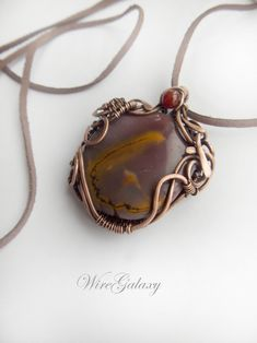 Pendant Jasper Mookaite Wire Copper Necklace Protection Amulet Mookaite jewelry Wearable Art Pendant Gift Mookaite Necklace Jasper for Women