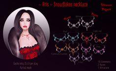 Ultravi01ett N.N.: ~ Atis ~ Snowflakes necklace NEW Gacha