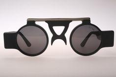 Sun Boy SB-06 / 90s Vintage sunglasses / NOS / Crazy round steampunk designer eyewear