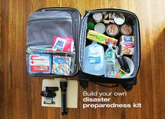 Preparing for a disaster. How to build your own disaster preparedness kit.