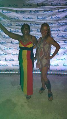 Sandra and myself at the FAM at Sandals Ochi Beach Jamaica October 2015