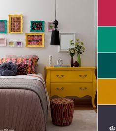 Um quarto delicado e feminino.