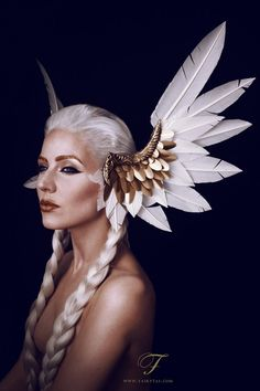 Valkyrie headdress by Jolien-Rosanne on deviantART Beautiful!!!