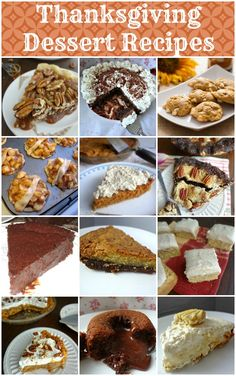 The Cooking Actress: Thanksgiving Dessert Recipes Round Up