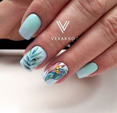 32 Ideas for gel manicure designs trends Gel Manicure Designs, Manicure Colors, Cool Nail Designs, Nailart, Natural Gel Nails, Spring Nail Art, Glitter Nail Art, Flower Nails, Perfect Nails
