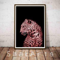 Cheetah Vinyl Home Wall Decorating Vnyl Decal Animal by ShakArts