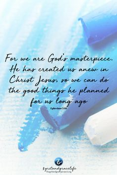 """""""But do you realize that you—yes you—(put your name here), are God's masterpiece? You are the most magnificent of his creations.""""  Read more, now in today's faith article! #gritandgracelife #gritgraceandGod  