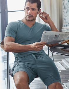 DAVID GANDY FOR AUTOGRAPH  New Supersoft MicroModal™ Pyjama Shorts £22.50 Petrol
